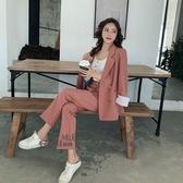 依酷衫 春秋韓版時尚氣質兩件套小西裝減齡套裝