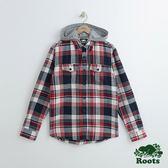 男裝-Roots 亨特立連帽襯衫 - 紅色