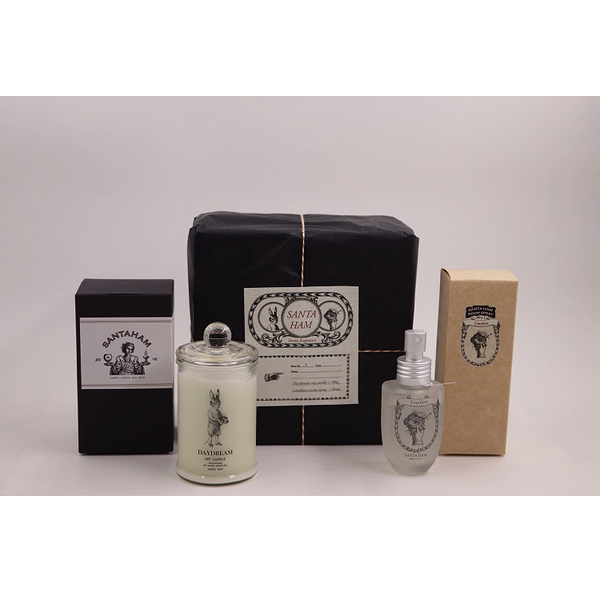 SANTA HAM_禮盒款式 (白日夢_大豆香氛蠟燭+無限_環境噴霧)