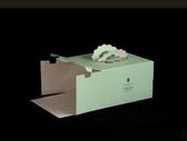奧比島2019款4寸6寸8寸10寸12寸加厚白卡手提生日蛋糕盒子提供QS