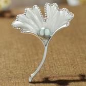 尾牙蘭廷飾佳仿珍珠花朵胸針西服胸花禮服胸針時尚韓版別針配飾品