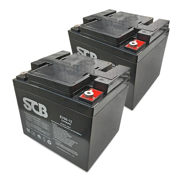 龍昌 SCB EV50-12 鉛酸電池 兩顆一組 12V 50Ah 代步車 電動機車 電動車 電池【康騏電動車】
