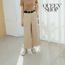 Queen Shop【04110280】基本百搭休閒腰帶造型長褲 兩色售 S/M*現+預*