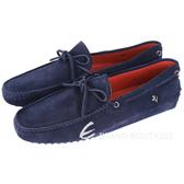 TOD'S FOR FERRARI GOMMINO 麂皮綁帶豆豆休閒鞋(深藍色) 1620004-E1