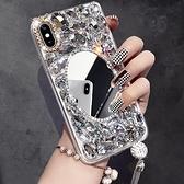 蘋果 iPhone11 Pro Max 11Pro SE2 XS Max IX XR i8 i7 Plus i6S 水鑽殼 客製 手做 化妝鏡鑽殼