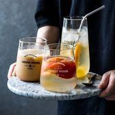 透明字母玻璃杯【矮杯下單處】北歐風格 咖啡杯 水杯 果汁飲料杯 耐冷熱安全防爆玻璃杯