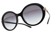 BVLGARI 太陽眼鏡 BG8204BF 501-8G (黑-漸層棕鏡片) 奢華蛇頭設計水鑽款 墨鏡# 金橘眼鏡