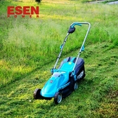 割草機 ESEN充電式手推電動割草機電動家用除草機鋰電草坪割草機剪草機T