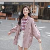 風衣外套-中長款純色寬鬆小清新韓版女大衣3色73ue7【巴黎精品】