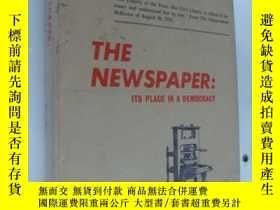 二手書博民逛書店The罕見newspaper:its place in a de
