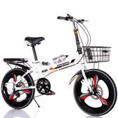 自行車 折疊自行車青年學生超輕便攜男女式成年人單速變速20寸小型減震車T 4色