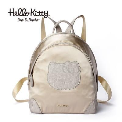 hello kitty 正品女包2018新款潮雙肩包女可愛貓頭甜美緞面小背包-zl