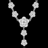 項鍊 925純銀 吊墜-精美玫瑰花生日情人節禮物女飾品73ch51【時尚巴黎】