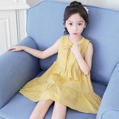 女童洋裝 女童連衣裙夏裝2020新款韓版洋氣寶寶無袖背心裙公主裙兒童裝裙子