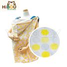 Hibou 日本和歌山多功能連帽防風被/哺乳巾/防風毯-黃色圈圈