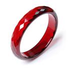 新款 紅水晶手鐲/寬15mm酒紅 光澤亮麗 刻面