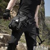軍迷戰術腿包男多功能腿掛戶外野外特種兵騎行機車綁腿包運動腰包  遇見生活