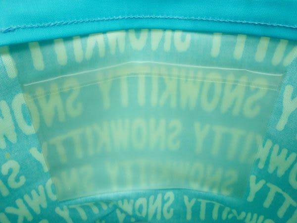 【震撼精品百貨】Hello Kitty 凱蒂貓~手提袋肩背包『藍底白英文字母雪人』