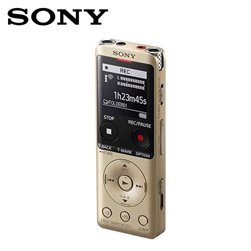 【SONY 索尼】ICD-UX570F/N 4GB 多功能數位錄音筆 金色