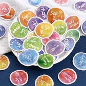 【BlueCat】糖果遊行系列盒裝貼紙 手帳貼紙 (40入)