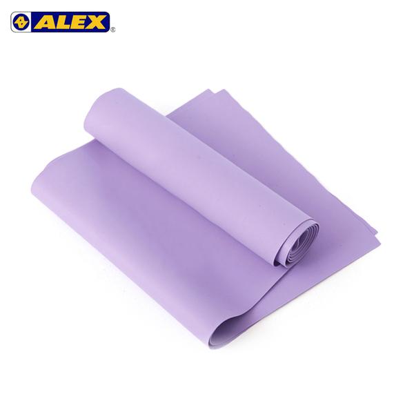 ALEX 伸展彈力帶紫厚度0.5mm (瑜珈繩 健身阻力帶 彈力繩 拉力帶 訓練帶≡體院≡