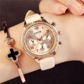 手錶 女士手錶防水時尚2018新品潮流水鑽石英女錶皮帶學生正韓簡約大氣