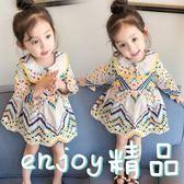 女童嬰兒童連身裙春裝2018新款韓女寶寶小童長袖公主裙子1-2-3歲4