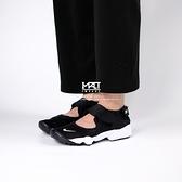 IMPACT Nike Air Rift GS 黑白 忍者鞋 透氣 休閒 涼鞋 魔鬼氈 322359-014