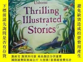 二手書博民逛書店英文原版Thrilling罕見Illustrated Stories 插畫故事男孩故事書 Usborne 精裝本