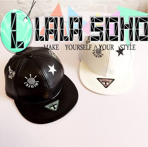 韓版潮 棒球帽 皮扣帽子 夏天 鴨舌帽 嘻哈帽 遮陽帽  帽子
