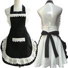 一件8折免運 圍裙可愛正韓時尚公主女僕歐式蕾絲花邊美容美甲工作服廚房印LOGO