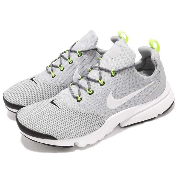 【六折特賣】Nike 休閒慢跑鞋 Presto Fly 灰 白 低筒 魚骨鞋 襪套式 運動鞋 男鞋【PUMP306】908019-013