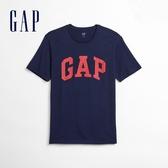 Gap男裝 Logo簡約風格圓領短袖T恤 550338-海軍藍