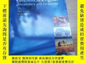 二手書博民逛書店Technical罕見English Vocabulary and Grammar 9781902741765