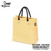 手提袋-編織袋(S)-黃白-03C