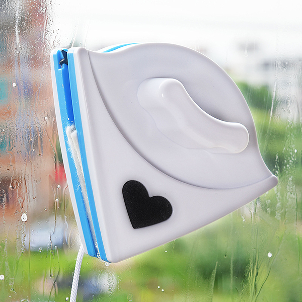 經濟型三角形雙面磁性玻璃擦窗器 多功能玻璃清潔器 (顏色隨機出貨)