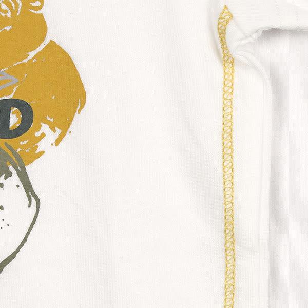 【愛的世界】純棉圓領大河馬短袖上衣-白/1歲-台灣製- ★春夏上著 outlet零碼