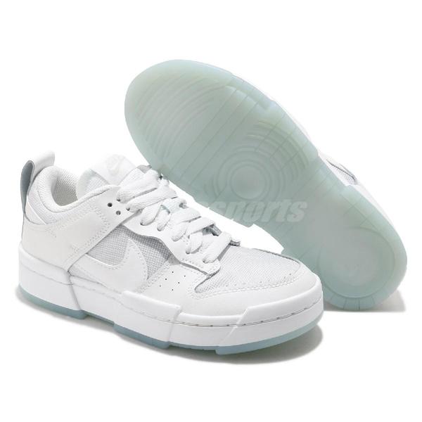 Nike 休閒鞋 Wmns Dunk Low Disrupt Photon Dust 白 藍 女鞋 解構 厚底 運動鞋 【ACS】 CK6654-001