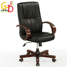 【GD綠設家】蘇克 時尚黑皮革多功能辦公椅/主管椅