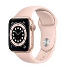 【新機預購】Apple Watch S6 GPS 40mm 金色鋁金屬-粉沙色運動型錶帶【預購 你的健康心生活】