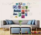 壁貼【橘果設計】世界建築郵票 DIY組合壁貼/牆貼/壁紙/客廳臥室浴室幼稚園室內設計裝潢