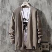 男士針織衫開衫外套韓版潮流日系毛衣【左岸男裝】