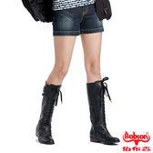 BOBSON 女款配色拉鍊牛仔短褲(160-52)