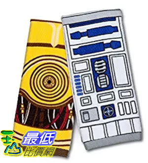 [美國直購] ThinkGeek 星際大戰 Star Wars 擦手巾 茶巾 R2-D2 & C-3PO Hand Towel Set 週邊商品