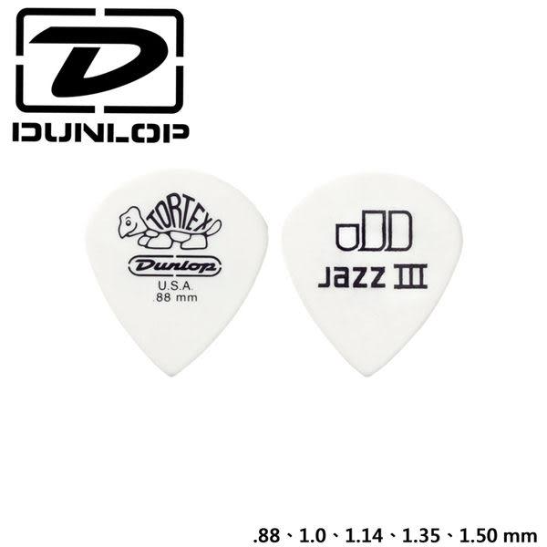 小叮噹的店- 美國Dunlop 478R Tortex Jazz III White 匹克/彈片/PICK.公司貨