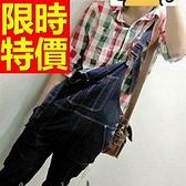 吊帶褲-簡單造型大方單寧男長褲56i124[巴黎精品]