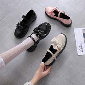 娃娃鞋日系洛麗塔lolita厚底女鞋可愛蝴蝶結圓頭娃娃鞋原宿平底軟妹皮鞋