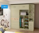 衣櫃-簡約現代移門衣櫃大衣櫥2門經濟型組裝臥室實木質板式推拉門衣櫃 【快速出貨】