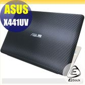 【Ezstick】ASUS X441 UV 專用 Carbon黑色立體紋機身貼 (含上蓋貼、鍵盤週圍貼) DIY包膜