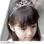 公主愛心皇冠貼鑽髮箍 女童髮飾